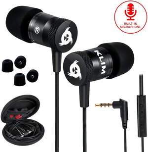 KLIM Fusion Earbuds with Microphone + Long-Lasting Wired Earbuds Review